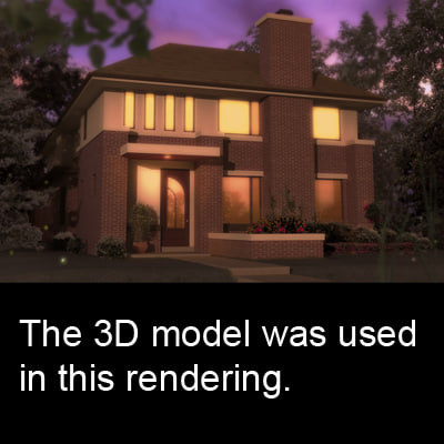 3d realistic family architecture building