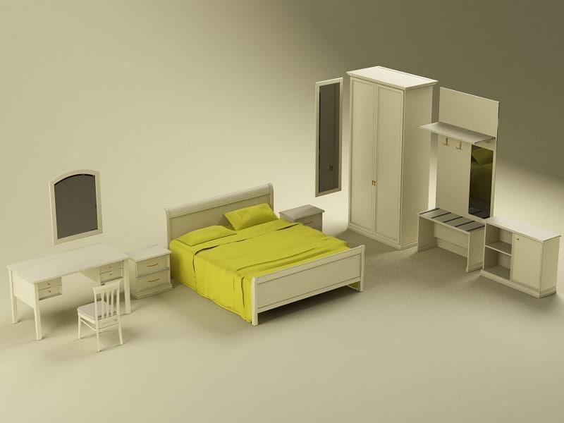 3d model of aurora furniture