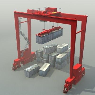 rtg crane 3d model
