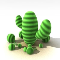 cute cactus 3d model