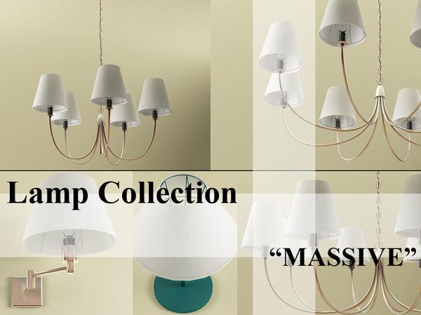 3d model lamp set interior