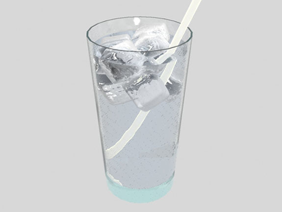 glass water 3d max