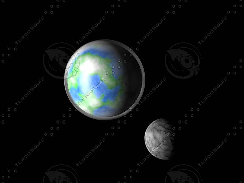 c4d earth moon