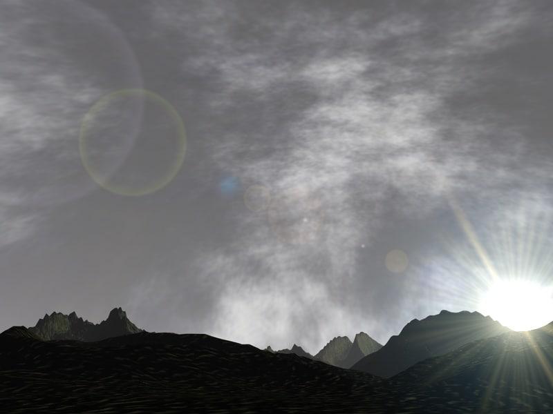 landscape mountains 3d model