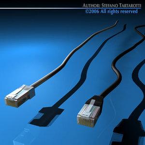 ethernet plugs 3d model