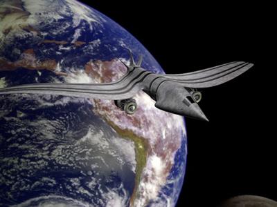 spaceship spacecraft fighter 3d model