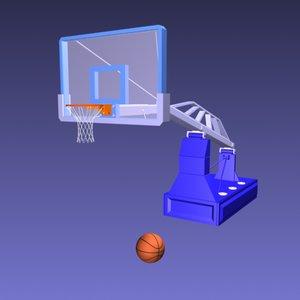 basketball net ball 3d max