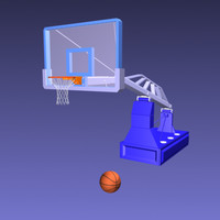 3d basketball net ball model