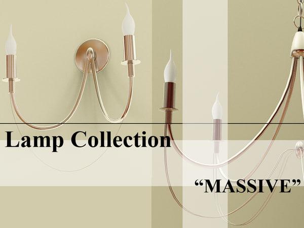 lamp massive set 3ds