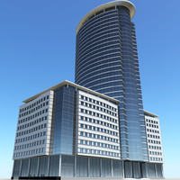 3d modern business center model