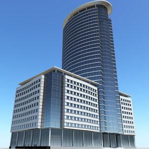3d modern business center model