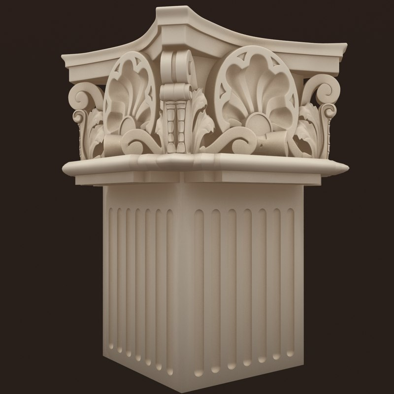 max corinthian square column