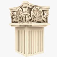 Corinthian Square Column