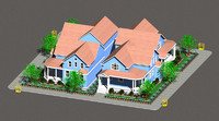 3dsmax architecture villa buildings housing