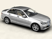 3d model of mercedes benz c class