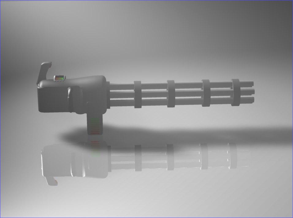 laser gattling gun c4d