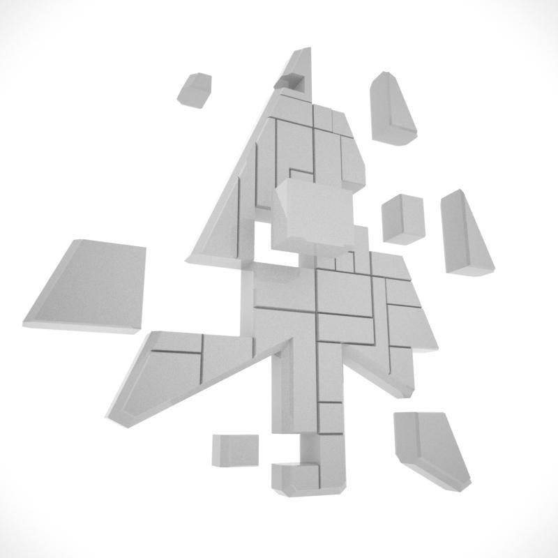 spaceship cursor 3d model