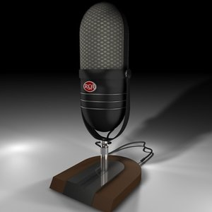 3ds max vintage rca microphone