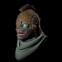 realistic orc head 3d model
