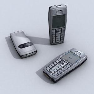 3d nokia 6230i cell phone model
