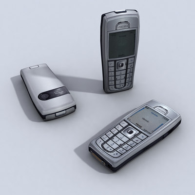 3d nokia 6230i cell phone model