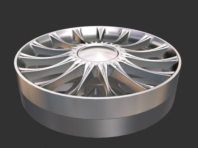 10 spoke wheel 3d max