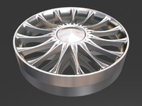 10 spoke alloy wheel 3d max