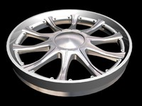 3d 10 spoke split rim wheel