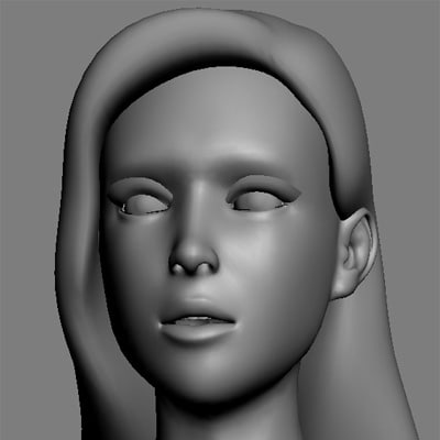 new woman realistic modeled 3d max