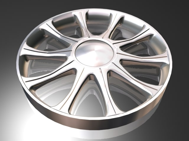 10 spoke groved alloy wheel 3d max