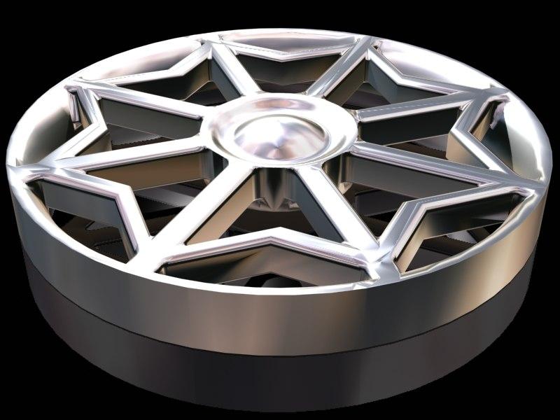 3d model star wheel