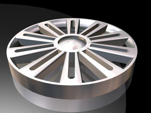 spoke alloy wheel 3d model