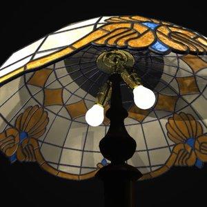 3d antique floor lamp