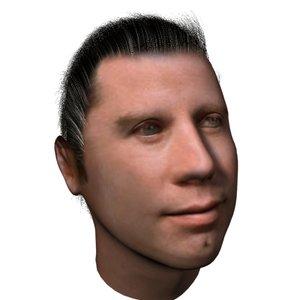 3ds max head travolta