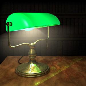 bankers lamp c4d