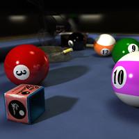 billiard table 3d c4d