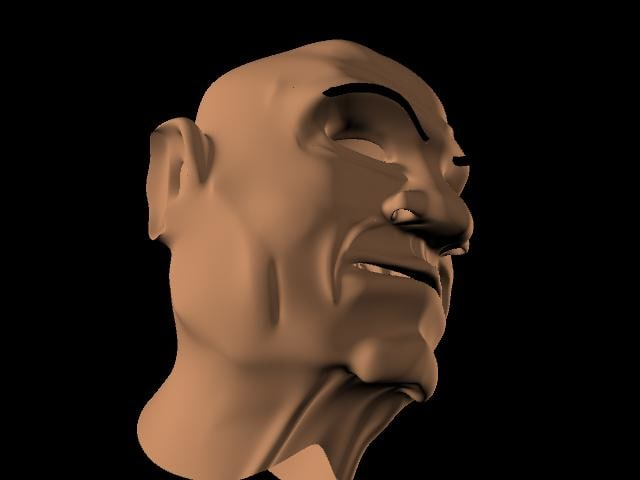 old mans head 3d ma
