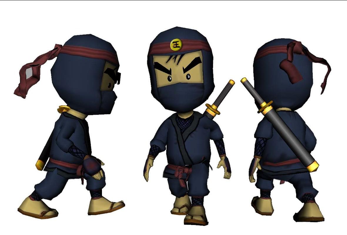 3ds max ninja shinobe kid