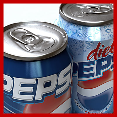 0 pepsi cans pack 3d max