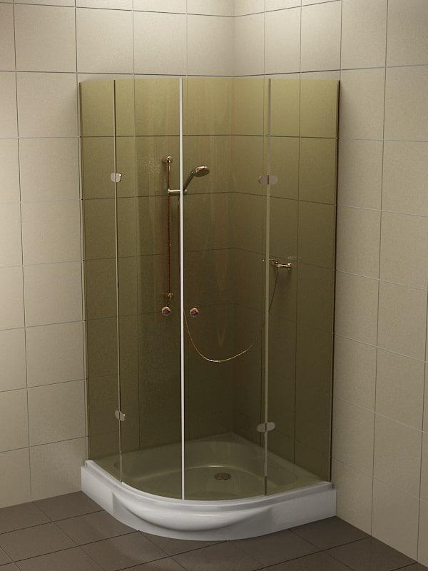 3d shower bathing modelling model