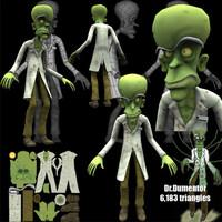 evil dr dumentor scientist 3d ma