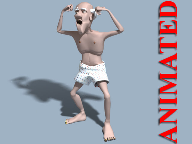 man grandfather simeon body animation ma
