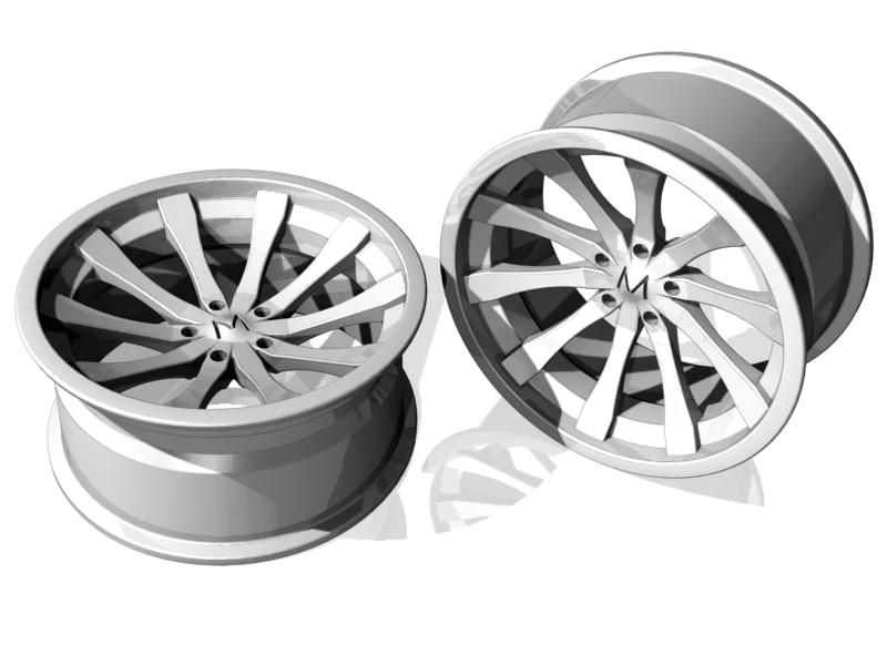 3d model alloy wheel design