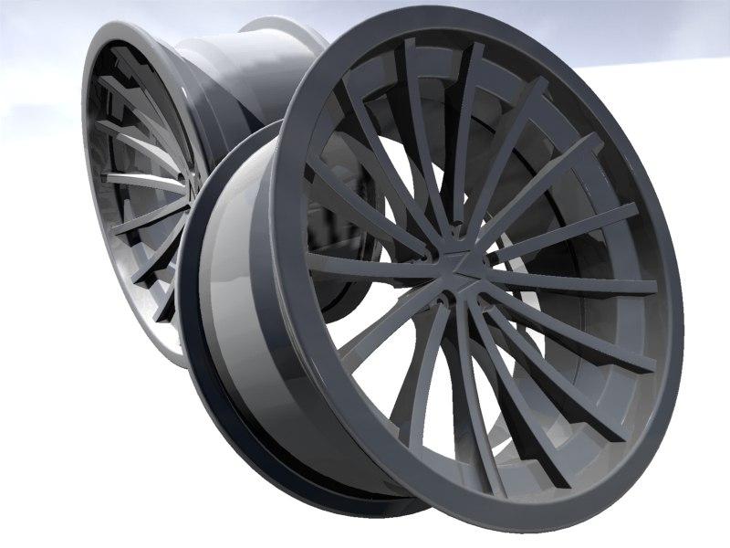 3dsmax alloy wheel