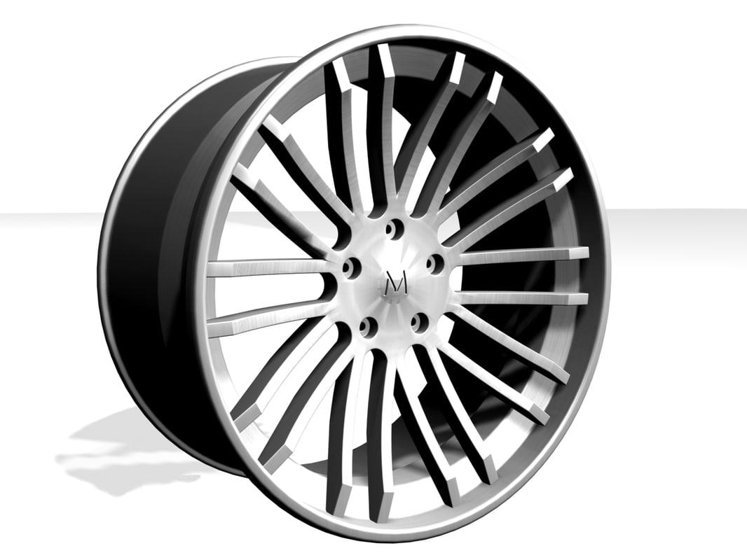 3ds max alloy wheel