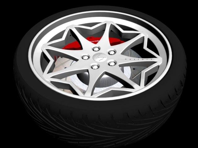 alloy wheel design 3d x