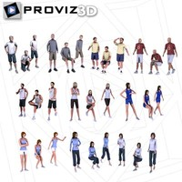 3D People: 30 Still 3D Sport People Vol. 01