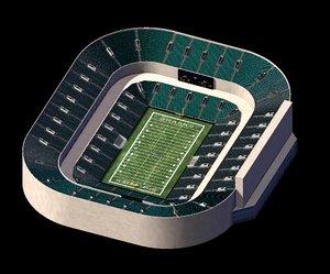 free football stadium 3d model