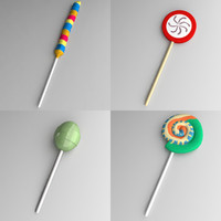candy lollipop 3d model