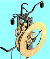 3d 16th century clock model